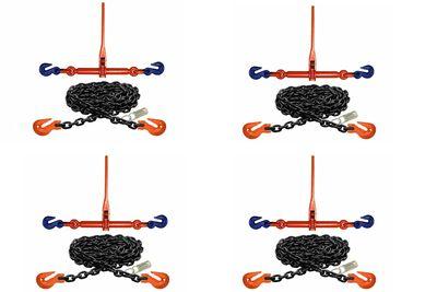 Набор крепежных цепей и натяжителей по типу AZ с укорачивающими крюками на концах цепи