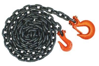 Крепежная цепь с двумя вариантами комплектации крюков на концах