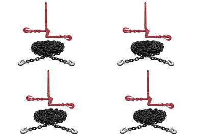 Набор крепежных цепей и натяжителей по типу CZ с укорачивающими крюками на концах цепи